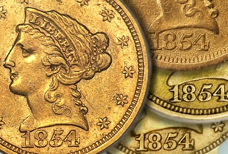 Coin Rarities & Related Topics: The Norweb-Richmond 1854-S $2.5 Gold Coin (Quarter Eagle)