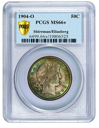 1904 o 50c barber pcgs PCGS Rated #1 Barber Half Dollar Registry Set at ANA Pittsburgh Show