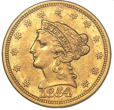 54 S norweb1 Coin Rarities & Related Topics: The Norweb Richmond 1854 S $2.5 Gold Coin (Quarter Eagle)