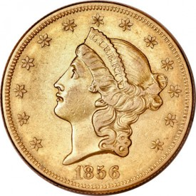 DE56On45+pcgs50o11 275x275 Coin Rarities & Related Topics: Extremely Fine 1856 O $20 gold coin to be auctioned