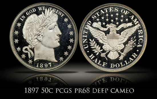PinnacleBarber Pinnacle Sells Number One PCGS Registry Set of Proof Barber Halves