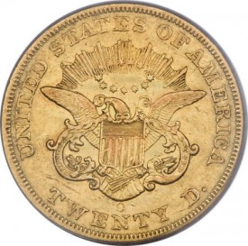 Rubic1856Orev1d 275x273 Coin Rarities & Related Topics: Extremely Fine 1856 O $20 gold coin to be auctioned