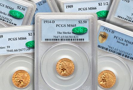 Coin Rarities & Related Topics: The Shrike-Karschner Set of Indian Head $2½ Gold Coins
