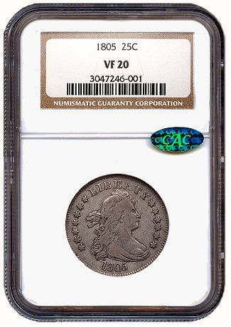 1805 25c gr Coin Rarities & Related Topics: Dimes and Quarters in the ANA Auction in Pittsburgh
