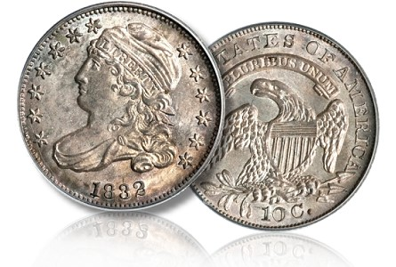 1832 10c gr Coin Rarities & Related Topics: Dimes and Quarters in the ANA Auction in Pittsburgh