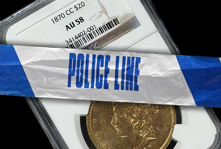 Finest Known Gold 1870-CC $20 Lib Stolen from Brinks Shipment