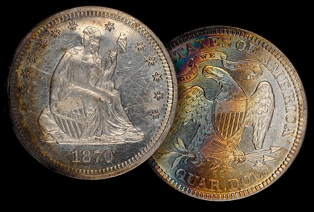 Counterfeit Detection: 1870-CC Quarter