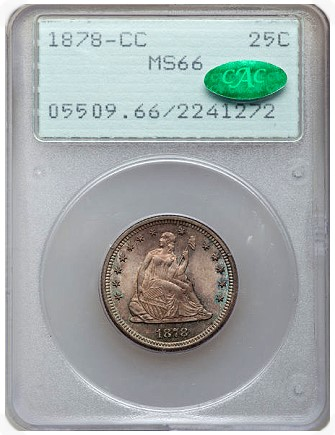1878 cc 25c gr Coin Rarities & Related Topics: Dimes and Quarters in the ANA Auction in Pittsburgh