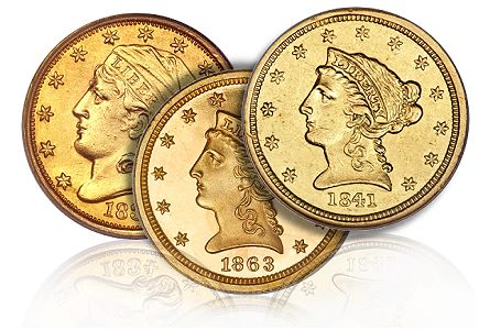250 rare Coin Rarities & Related Topics: The Rarest Quarter Eagles ($2½ gold coins)