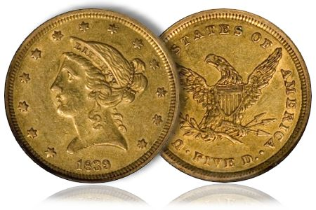DougWinter2 Building a Basic Type Set of Five Dollar Gold Pieces
