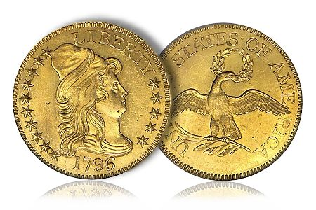 Greg5Dollar1 Coin Rarities & Related Topics: The Eliasberg 1796 Half Eagle ($5 gold coin)