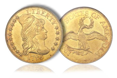 Greg5Dollar2 Coin Rarities & Related Topics: The Eliasberg 1796 Half Eagle ($5 gold coin)