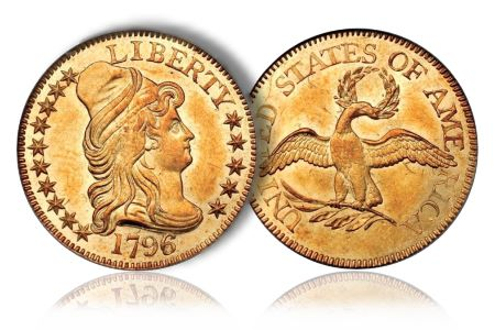 Greg5Dollar3 Coin Rarities & Related Topics: The Eliasberg 1796 Half Eagle ($5 gold coin)