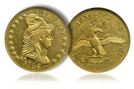 Greg5Dollar4 Coin Rarities & Related Topics: The Eliasberg 1796 Half Eagle ($5 gold coin)