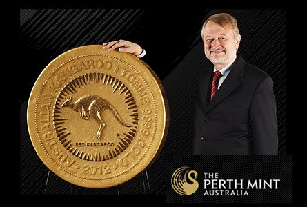 Perth 1Ton Perth Mint Issues worlds largest and most valuable gold bullion coin