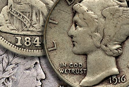 curc sets Coin Rarities & Related Topics: Assembling Sets of Silver Coins, part 1, Dimes and Half Dollars