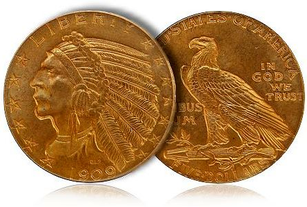 Building a Basic Type Set of Five Dollar Gold Pieces