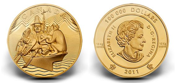 rcm 10kilo Royal Canadian Mint Issues a Ten Kilo 99.999% Pure Gold Coin Featuring the Spirit of Haida Gwaii