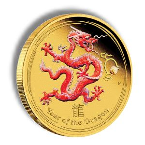 CandianDragon Perth Mint Announces the 2012 Year of the Dragon Gold Coloured Edition