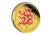 Perth Mint Announces the 2012 Year of the Dragon Gold Coloured Edition