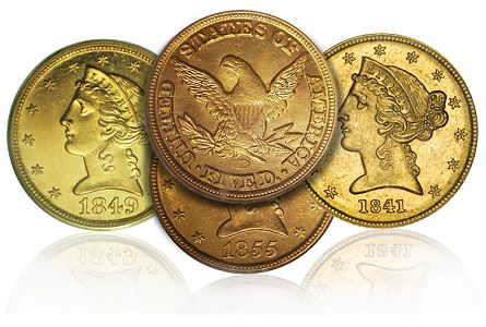 Dahlonega fives Mintmark Varieties of Dahlonega Half Eagles