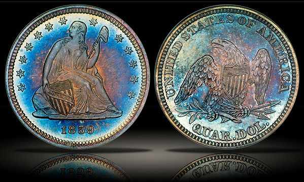 Pinnacle 1859 pr 25c Pinnacle Purchases Spectacular Proof Seated Quarter Collection