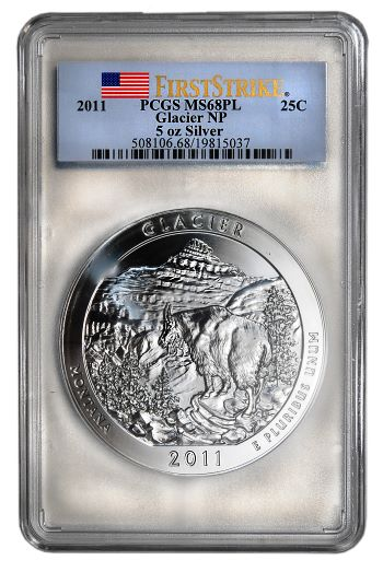 glacier atb pcgs The Coin Analyst: America the Beautiful Five Ounce Series Still Has Legs