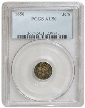 gr 1858 3cs1 Coin Rarities & Related Topics: Assembling Sets of Silver Coins, part 3, Three Cent Silvers