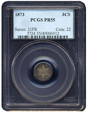 gr 1873cs pr Coin Rarities & Related Topics: Assembling Sets of Silver Coins, part 3, Three Cent Silvers