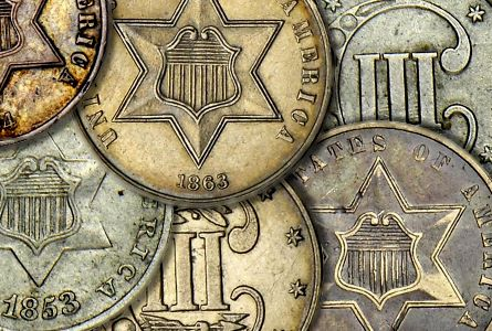 Coin Rarities & Related Topics: Assembling Sets of Silver Coins, part 3, Three Cent Silvers