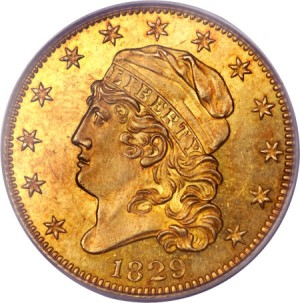 1829 5 lg fun12 Coin Rarities & Related Topics: The Harvey Jacobson Collection of Capped Head Half Eagles