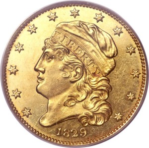 1829 5 sm fun12 Coin Rarities & Related Topics: The Harvey Jacobson Collection of Capped Head Half Eagles