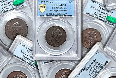 Coin Rarities & Related Topics: The 1793 Large Cents of Denis Loring