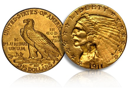 Counterfeit Coin Detection: US Gold 1911-D Quarter Eagle
