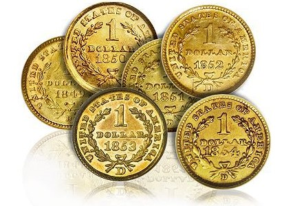 dw gold dollars group Coins I Never See With Good Eye Appeal Part One: Gold Dollars