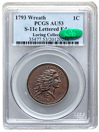 loring s11c1 Coin Rarities & Related Topics: The 1793 Large Cents of Denis Loring