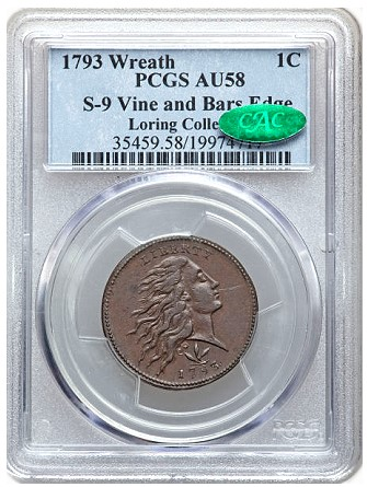 loring s91 Coin Rarities & Related Topics: The 1793 Large Cents of Denis Loring