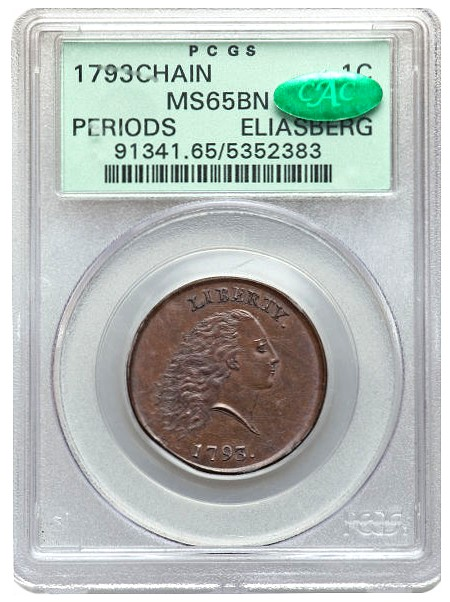 1793 s4 eliasberg fun12 pcgs cac 65 Coin Rarities & Related Topics: 1793 Cent sets $1.38 Million Auction Record for a Copper coin