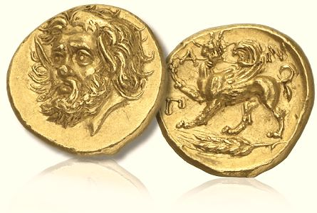 Pantikapaion Baldwins Set New World Record for Ancient Greek Coin   $3.25 Million