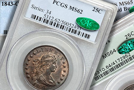 Coin Rarities & Related Topics: Classic Silver Quarters sold on Platinum Night