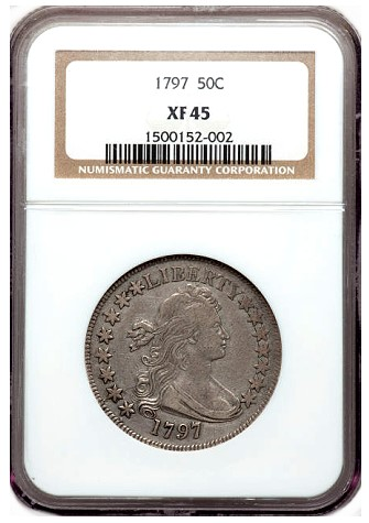 ha fun12 1797 50c Coin Rarities & Related Topics: Bust Half Dollars on Platinum Night