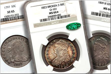 ha fun12 50c Coin Rarities & Related Topics: Bust Half Dollars on Platinum Night