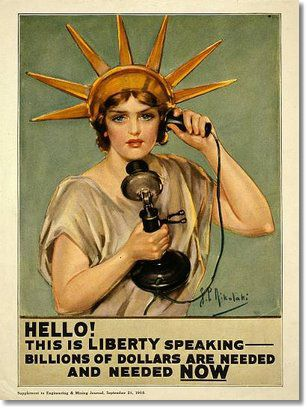 miss liberty calling Peace, Dollars and Peace Dollars