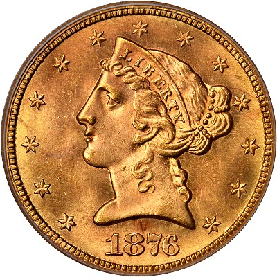 1876 cc 5 obv Coin Rarities & Related Topics: Finest Known Carson City, Nevada Gold Coin