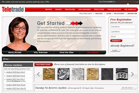 Teletrade Teletrade Internet Auctions Announces Launch of Newley Designed Website