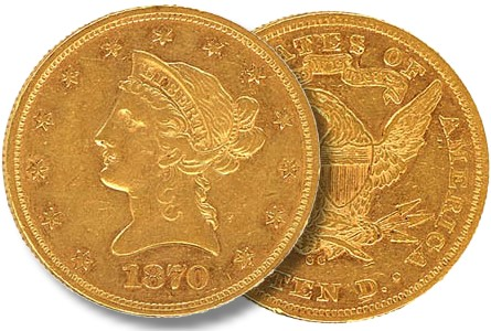 gr feb12 1870 cc Coin Rarities & Related Topics: Major Gold Rarities in Auction by Stamp Company