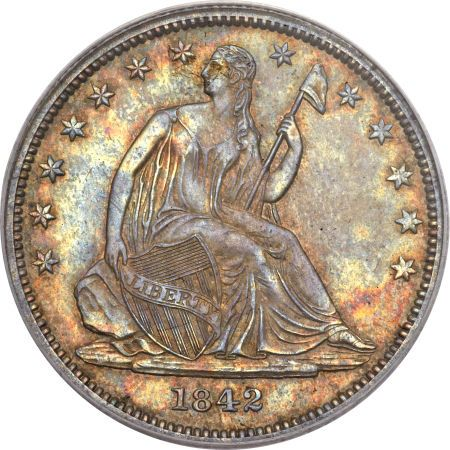ha fun 50c 1842 Coin Rarities & Related Topics: Liberty Seated Half Dollars on Platinum Night
