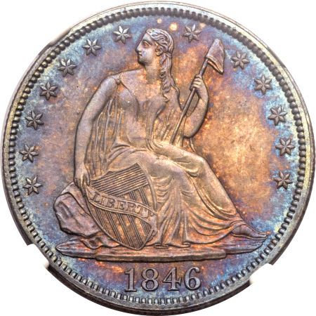 ha fun 50c 1846 Coin Rarities & Related Topics: Liberty Seated Half Dollars on Platinum Night