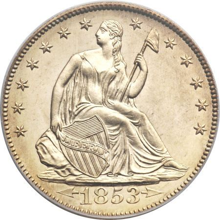 ha fun 50c 1853 Coin Rarities & Related Topics: Liberty Seated Half Dollars on Platinum Night