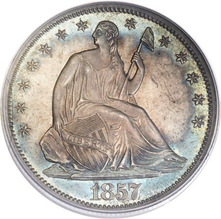 ha fun 50c 1857 Coin Rarities & Related Topics: Liberty Seated Half Dollars on Platinum Night